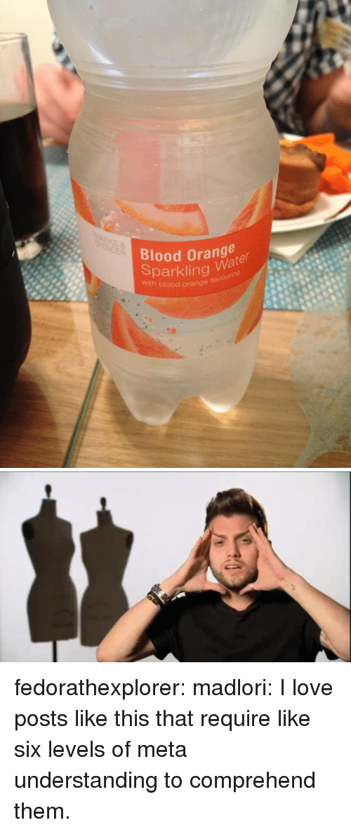 Love, Tumblr, and Blog: Blood Orange  Sparklingu88  with blood orange fla  Wa fedorathexplorer: madlori: I love posts like this that require like six levels of meta understanding to comprehend them.