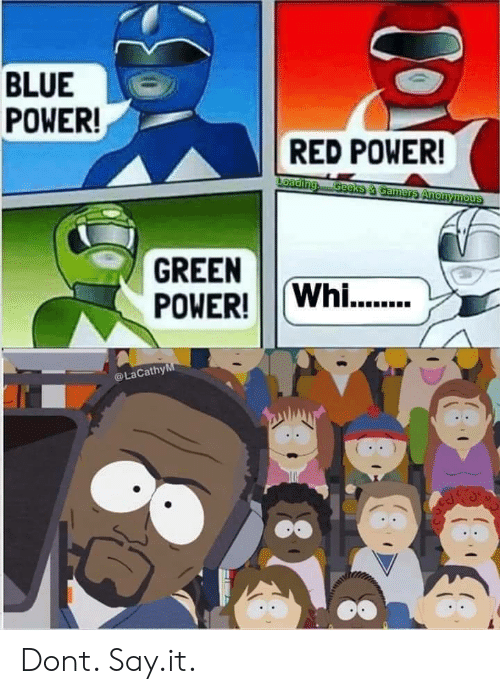Say It, Anonymous, and Blue: BLUE  POWER!  RED POWER!  Loading  Geeks &Gamers Anonymous  GREEN  POWER!Whi..  LaCathyM Dont. Say.it.