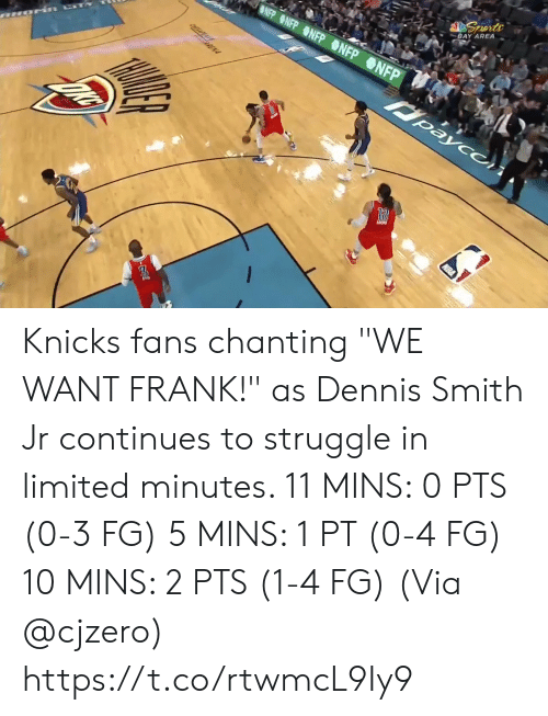 "Limited: BLUE SEATS  KIA  MIS BUDY'S FOR YOU.  TH  FOR  BONUS  BONUS  29.6  81  76  3RD 24  AMSG  BOS  NYK  LIVE  s, 2 reb, 4 ast, 1 blk L Smith: 10 pts, 2 reb, 3 astTV  NBA SCORES  WIZARDS Knicks fans chanting ""WE WANT FRANK!"" as Dennis Smith Jr continues to struggle in limited minutes.   11 MINS: 0 PTS (0-3 FG) 5 MINS: 1 PT (0-4 FG) 10 MINS: 2 PTS (1-4 FG)  (Via @cjzero)  https://t.co/rtwmcL9Iy9"