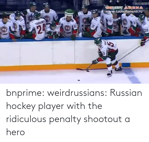 a hero: bnprime: weirdrussians:   Russian hockey player with the ridiculous penalty shootout    a hero