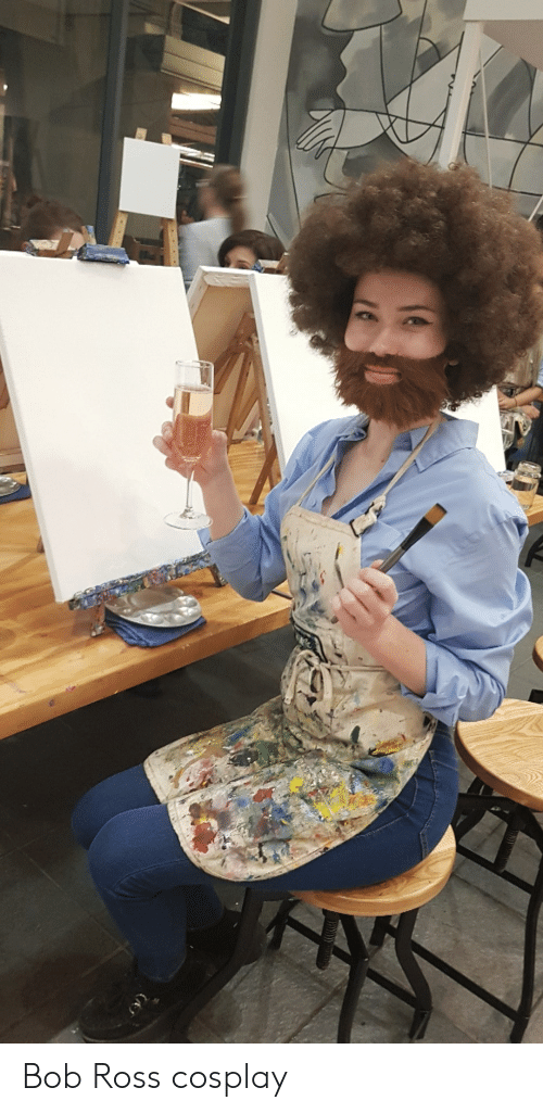 Bob Ross, Cosplay, and Ross: Bob Ross cosplay