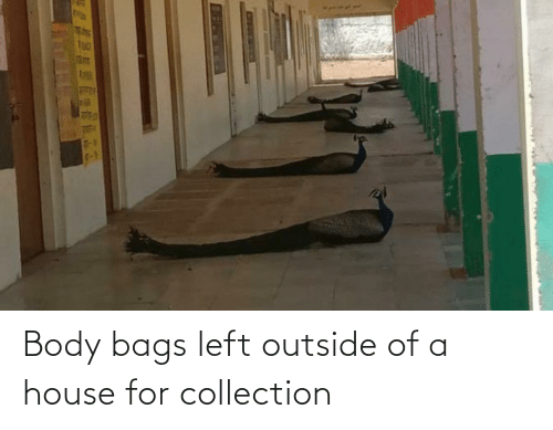 Outside Of: Body bags left outside of a house for collection