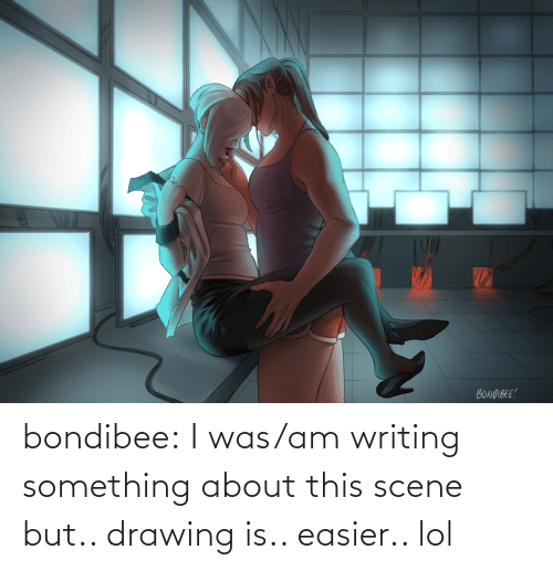 drawing: bondibee:  I was/am writing something about this scene but.. drawing is.. easier.. lol