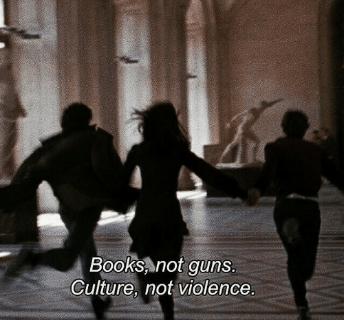 Books, Guns, and Culture: Books, not guns  Culture, not violence.