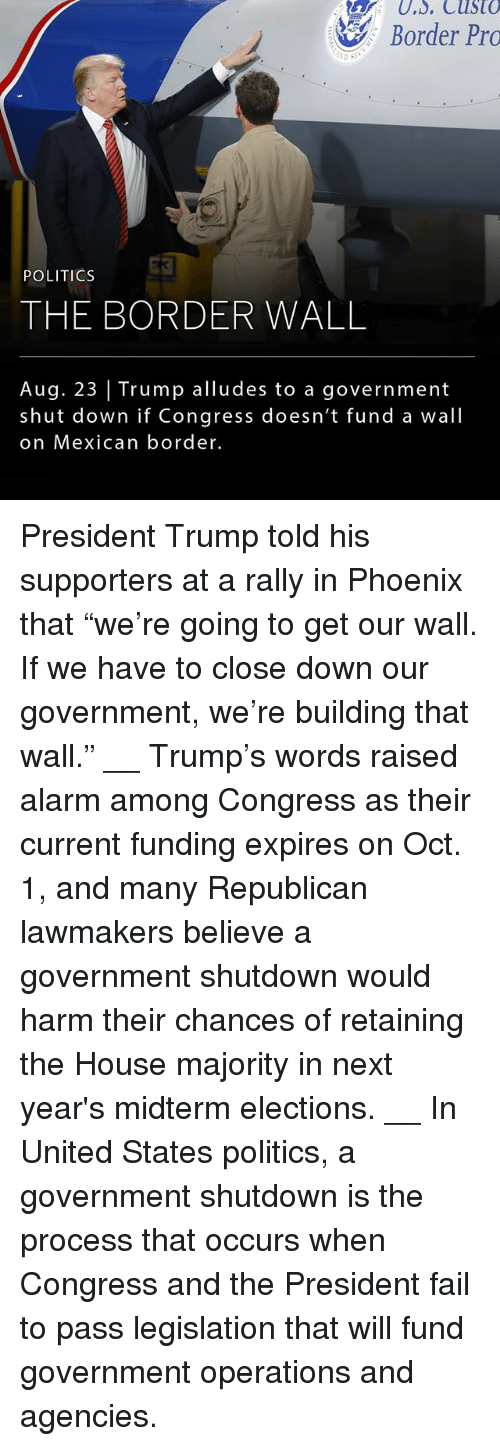 """Passe: Border Pro  POLITICS  THE BORDER WALL  Aug. 23 