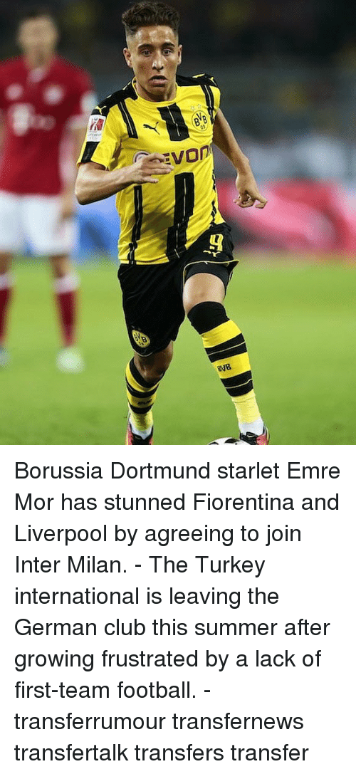 inter milan: Borussia Dortmund starlet Emre Mor has stunned Fiorentina and Liverpool by agreeing to join Inter Milan. - The Turkey international is leaving the German club this summer after growing frustrated by a lack of first-team football. - transferrumour transfernews transfertalk transfers transfer