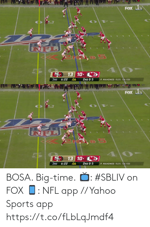 fox: BOSA. Big-time.  📺: #SBLIV on FOX 📱: NFL app // Yahoo Sports app https://t.co/fLbLqJmdf4