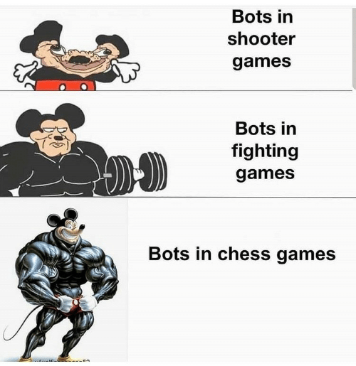 fighting: Bots in  shooter  games  Bots in  fighting  games  Bots in chess games