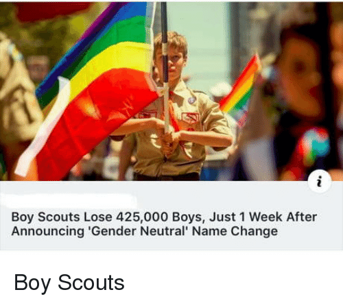 scouts: Boy Scouts Lose 425,000 Boys, Just 1 Week After  Announcing 'Gender Neutral' Name Change Boy Scouts