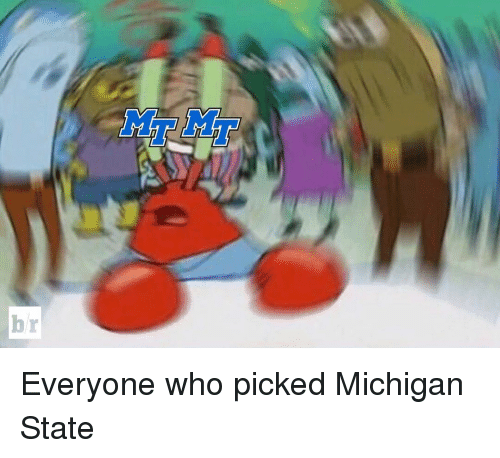michigan state: br Everyone who picked Michigan State