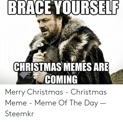 merry christmas meme: BRACE YOURSELF  CHRISTMAS MEMES ARE  COMING Merry Christmas - Christmas Meme - Meme Of The Day — Steemkr