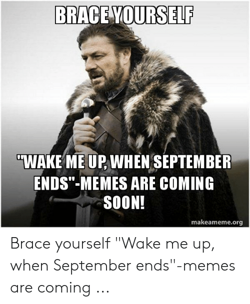 memes soon and brace yourself brace yourself wake me up