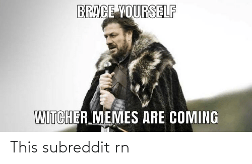 Memes Are Coming: BRACE YOURSELF  WITCHER MEMES ARE COMING This subreddit rn