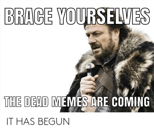 Memes Are Coming: BRACE YOURSELVES  THE DEAD MEMES ARE COMING IT HAS BEGUN