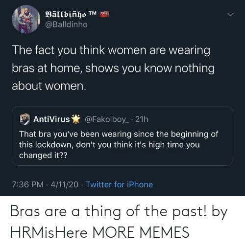 The Past: Bras are a thing of the past! by HRMisHere MORE MEMES