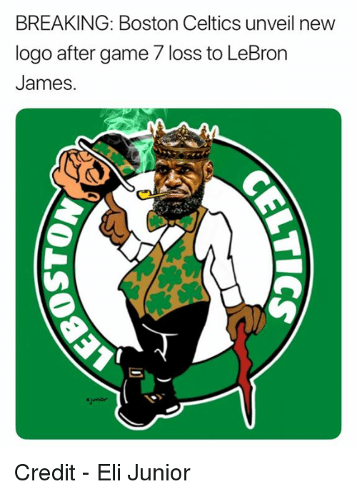 game-7: BREAKING: Boston Celtics unveil new  logo after game 7 loss to LeBron  James. Credit - Eli Junior