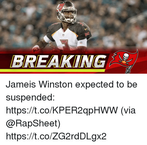 jameis winston: BREAKING Jameis Winston expected to be suspended: https://t.co/KPER2qpHWW (via @RapSheet) https://t.co/ZG2rdDLgx2