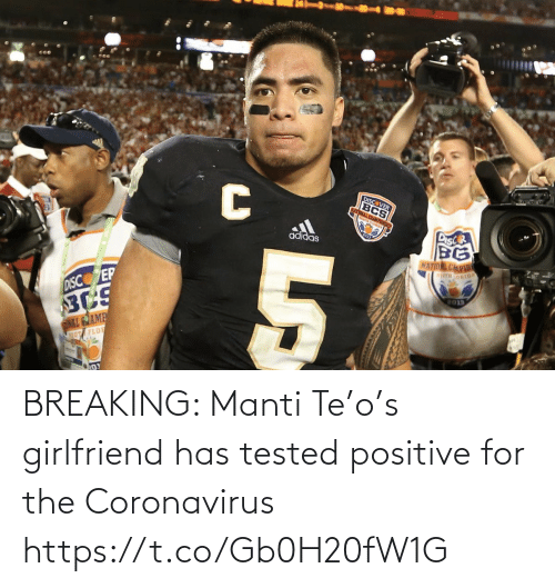 NFL: BREAKING: Manti Te'o's girlfriend has tested positive for the Coronavirus https://t.co/Gb0H20fW1G