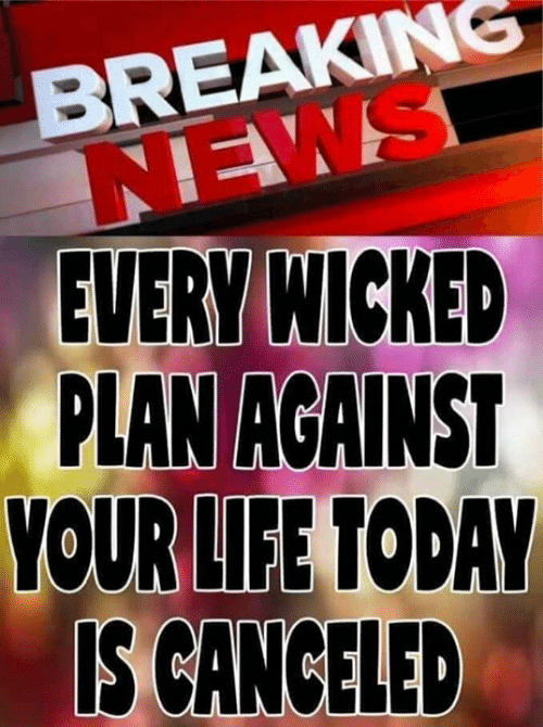 Wicked: BREAKING  NEWS  EVERY WICKED  PLAN AGAINS  OUR LIFE TODAY  IS CANCELED