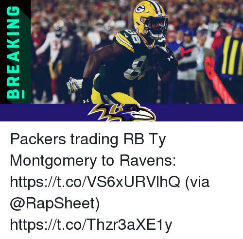 Memes, Packers, and Ravens: BREAKING Packers trading RB Ty Montgomery to Ravens: https://t.co/VS6xURVlhQ (via @RapSheet) https://t.co/Thzr3aXE1y