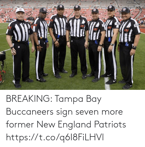England Patriots: BREAKING: Tampa Bay Buccaneers sign seven more former New England Patriots https://t.co/q6I8FiLHVl