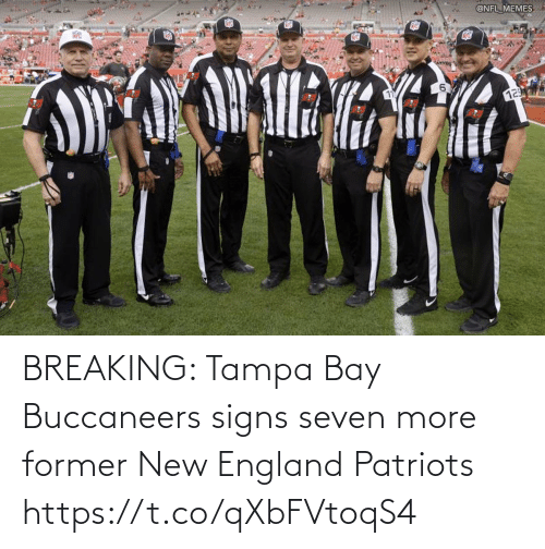 New England Patriots: BREAKING: Tampa Bay Buccaneers signs seven more former New England Patriots https://t.co/qXbFVtoqS4