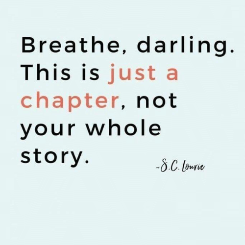 Dank, 🤖, and Darling: Breathe, darling  This is just a  chapter, not  vour whole  story