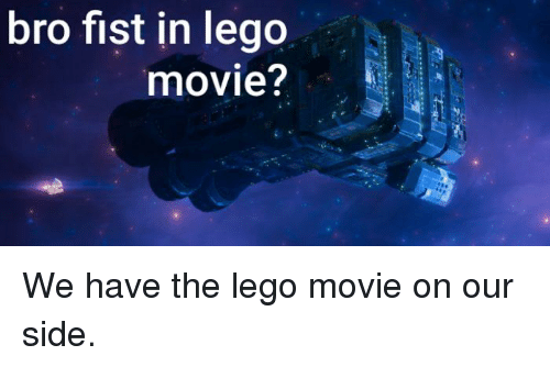 Lego, Movie, and The Lego Movie: bro fist in lego  movie?