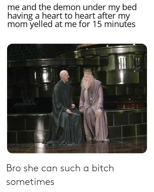 bro: Bro she can such a bitch sometimes