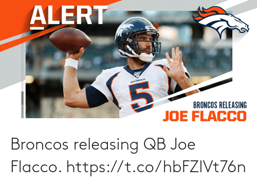 joe: Broncos releasing QB Joe Flacco. https://t.co/hbFZlVt76n