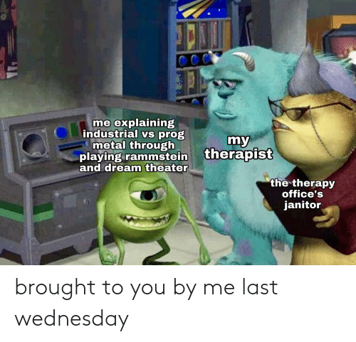 Wednesday: brought to you by me last wednesday