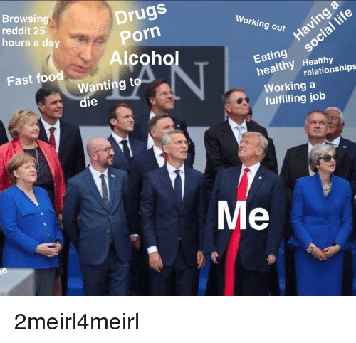Browsing Reddit 25 Hours a Day Drugs Porn Alcohol Working
