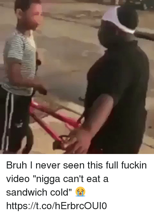 """Fuckins: Bruh I never seen this full fuckin video """"nigga can't eat a sandwich cold"""" 😭 https://t.co/hErbrcOUI0"""