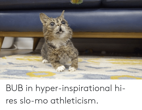 hyper: BUB in hyper-inspirational hi-res slo-mo athleticism.