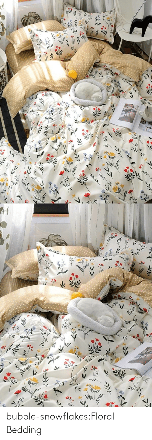 bedding: bubble-snowflakes:Floral Bedding