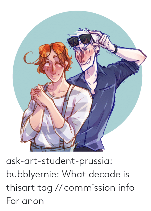Prussia: bubblyerne ask-art-student-prussia:  bubblyernie:  What decade is thisart tag // commission info   For anon