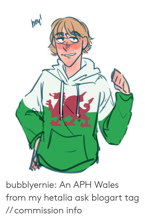 wales: bubblyernie:  An APH Wales from my hetalia ask blogart tag // commission info
