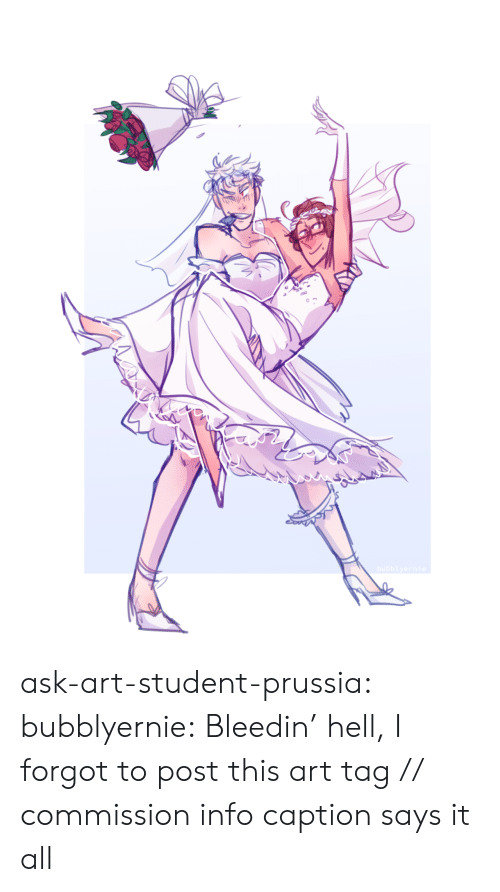 Prussia: bubblyernie ask-art-student-prussia:  bubblyernie: Bleedin' hell, I forgot to post this art tag // commission info  caption says it all