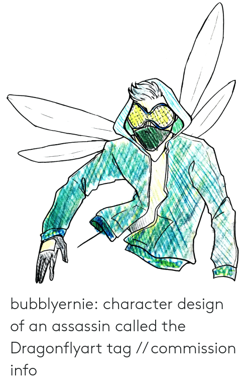 assassin: bubblyernie:  character design of an assassin called the Dragonflyart tag // commission info