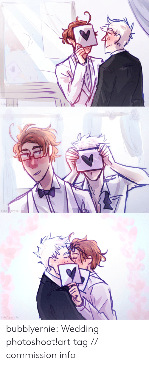 Draws: bubblyernie:  Wedding photoshoot!art tag // commission info