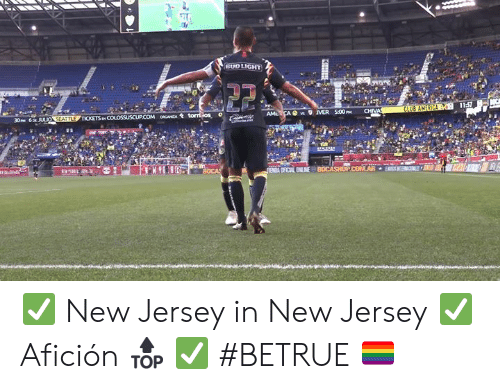 Bud Light: BUD LIGHT  11:57  CLUB AMERICA  CHIVA  AMLCA s MER 500P  30PM 6p JULIO SEATTLE TICKETS p COLOSSUSCUP.COM oCANZA tomios  e m  ENA OFICAL ENLINE BOCASHOPCOMAR  KHIH ✅ New Jersey in New Jersey ✅ Afición 🔝 ✅ #BETRUE 🏳️🌈