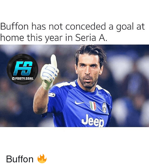 seria a: Buffon has not conceded a goal at  home this year in Seria A  OFOOTY.GOAL  Jee Buffon 🔥