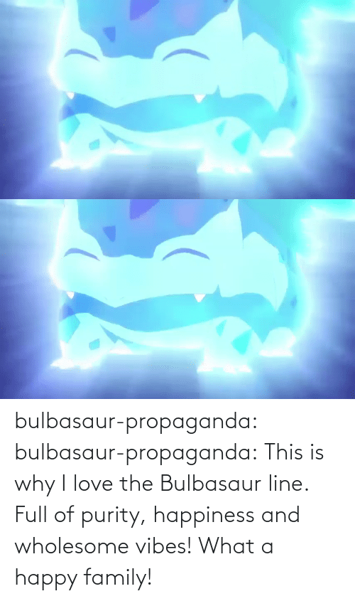 Bulbasaur, Family, and Gif: bulbasaur-propaganda:  bulbasaur-propaganda:   This is why I love the Bulbasaur line. Full of purity, happiness and wholesome vibes!    What a happy family!