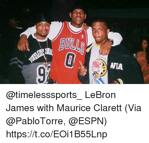 Espn, LeBron James, and Memes: BULL  WEA  9 @timelesssports_ LeBron James with Maurice Clarett   (Via @PabloTorre, @ESPN) https://t.co/EOi1B55Lnp