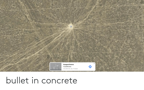 concrete: bullet in concrete