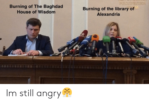 alexandria: Burning of The Baghdad  House of Wisdom  Burning of the library of  Alexandria Im still angry😤