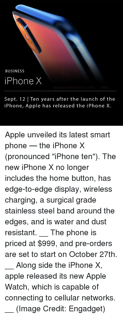 """Smart Phoned: BUSINESS  iPhone X  Sept. 12 