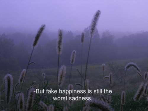 Happiness Is: -But fake happiness is still the  worst sadness.