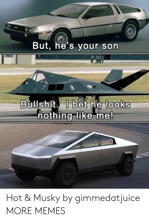 like me: But, he's your son  Bullshit. bet he looks  hothing-like me! Hot & Musky by gimmedatjuice MORE MEMES