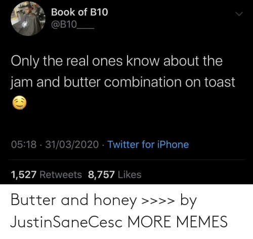 honey: Butter and honey >>>> by JustinSaneCesc MORE MEMES